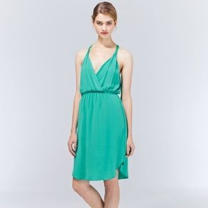 """Aritiza """"Taleen"""" Teal/Turquoise Wrap Front Dress"""